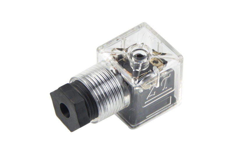 A型内螺纹防水带灯插头(液压电磁阀插头)