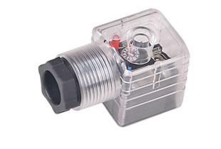 A型弧形带灯插头(液压电磁阀插头)
